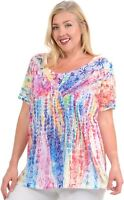 PLUS Hibiscus on Colorful Tie Dye Soft n light One By One Sublimation PSRP-R340