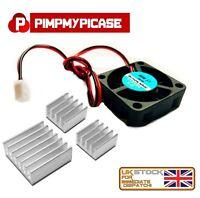 5V Cooling Fan for Raspberry Pi 3 & 4 Model B  A  B+ A+ ALL MODELS + 3 Heatsinks