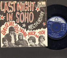 """Dave Dee Dozy Beaky Mick & and Tich 1968 Last Night in Soho MONO SINGLE 7"""""""