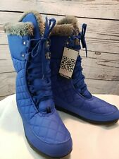 DailyShoes Warm Fur Water Resistant Eskimo Lace up Winter Snow Mid Calf Boots 13