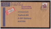 BRD, Einschreiben MiNr. 1623 EF TSt Landwedel 25.08.1992