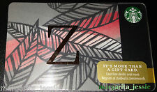 "STARBUCKS US 2014 GIFT CARD ""LETTER Z"" A to Z Alphabet Series NEW 99 NO VALUE"