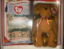 TY MCDONALDS GERMANIA THE BEAR TEENIE BEANIE BABY HAPPY MEAL TOY PLUSH ANIMAL