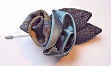 Harris Tweed/seta/Tweed/LIBERTY tessuto Occhiello/Bouquet/bavero pin.