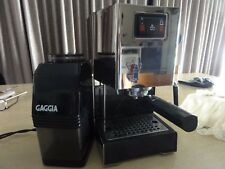 GAGGIA CLASSIC COFFEE SHINY chrome ESPRESSO MACHINE WITH GAGGIA GRINDER
