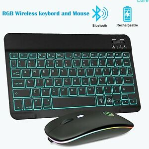 RGB Wireless Gamer Bluetooth Keyboard and Mouse Kit Computer/Ipad/Tablet/Laptop
