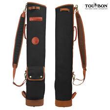 Tourbon Golf Clubs Bag Carry Sunday Fold Case Travel 3-Way Outdoor Vintage Black