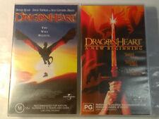 Dragonheart 1 & 2 Fantasy VHS 1996 2000 Raffaella De Laurentiis Universal Studio