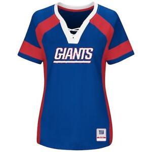 New York Giants Women's Majestic Plus Size Draft Me V-Neck T-Shirt Size 2X, NWT