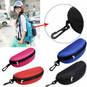 Portable Zipper Eye Glasses Clam Shell Sunglasses Hard Case Pro Protector