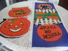 Vintage Halloween Treat Bags To Be Sewn Set of 5 Mint Jack-O-Lanterns