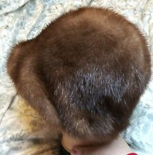 Mink Hat Brown Soft Very Nice