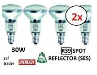 2 x 30W R39 Reflector Spot Light Lava Lamp Bulbs SES E14 Quality UK Stock