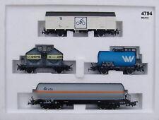 """Märklin 4794 Régional Ensemble de Wagons """" Nord """" 4 Pièces # Neuf Emballage"""