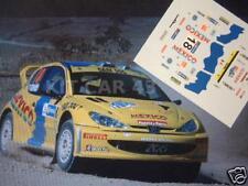 DECAL CALCA 1/43 PEUGEOT 206 WRC R. TRIVIÑO RALLY MEXICO 2005