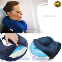 Harley Cool Gel Memory Foam Neck Pillow Soft Cushion Car Plane Train Travel Care