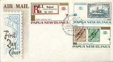 1973 Stamps on Stamps  Part set 3 FDC FDI 24.10.73 Pt Moresby Unaddressed