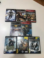 PS2 PlayStation 2 Medal of Honor, SoCom, Call of Duty 8 MILITARY game lot!!!!!!!