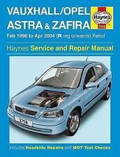 Vauxhall Astra & Zafira Petrol 98-04 Haynes Service Repair Manual 3758