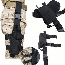 Adjustable Tactical Army Black Pistol Gun Drop Leg Thigh Holster Pouch Holder