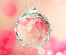 Crystal Prism Ball 25mm Suncatcher Feng Shui Light Catching Rainbow FREE GIFT