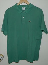 Men Lacoste Solid Green Short Sleeve T-Shirt Casual Work Size 6