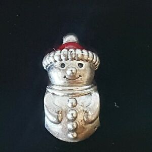 Pandora Christmas Snowman Santa Hat Red Enamel Silver Charm 798478 Free Post