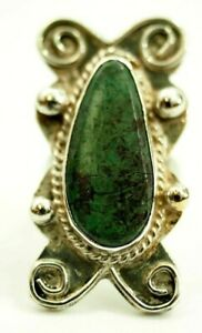 Ladies Turquoise Cabochon Ring Nickle Silver Ring size 6