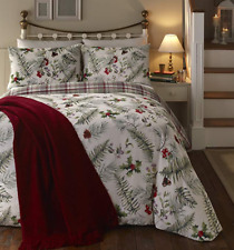 Fusion Winter Foliage Christmas Reversible DOUBLE Duvet Cover Set BNIP