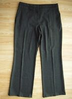 M&S Dark Grey Mix Straight Leg Trousers Size 14 Medium IMMACULATE
