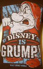 My Disney Side is Grumpy Medium T-Shirt Disneyland Disney World Dwarf Snow White