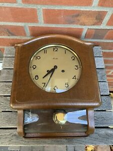 Alte Uhr Wanduhr Pendeluhr Regulator Mauthe 1960