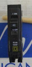 Square D Qob140 1 Pole 40 Amp Bolt-On Circuit Breaker