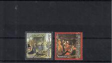 Samoa 2013 MNH Christmas 2v Set Art Paintings Amerighi da Caravaggio