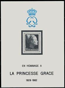 ZAYIX - 1983 Monaco 1387 MNH souvenir sheet - Death of Princess Grace