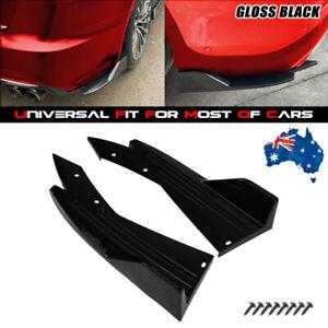 Car Rear Bumper Spoiler Splitter Diffuser Winglet Side Skirt Black Universal XL
