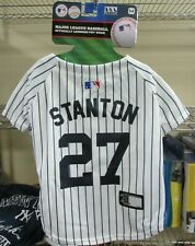 """NEW!! Pets First MLB """"YANKEES STANTON"""" Dog Jersey - WHT/BLU MED"""