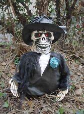 Ground Breaking Squelette Marié Halloween Party Décoration Prop Clignotant Yeux