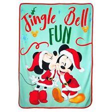 """Disney Mickey & Minnie Mouse Jingle Bell Fun Micro Blanket 46"""" x 60''"""
