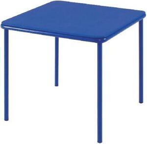 "Cosco 14314 Kid's Vinyl Top Blue Table Children's Activity Table 24"" x 24"""