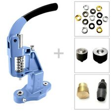 Hand press plus eyelet setting tool and puncher and grommet 8 10 12 17 mm - St15