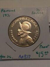 1971 Panama 1/2 Balboa Proof Coin #AA827