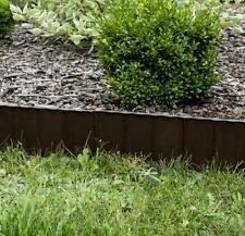 Plastic Garden Fence Panels Boarder Lawn Palisade Edge Patio Fencing BROWN KRR
