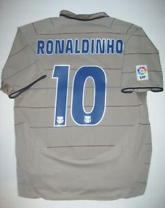 FC Barcelona Ronaldinho Jersey Trikot Maglia Brazil 2004-2006 Nike Away Kit FCB