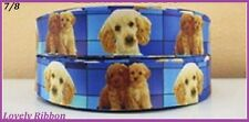 1 metre, POODLE, 22mm, Dogs, Puppies, Ribbon, 7/8, Grosgrain, Hair, Craft, Bows