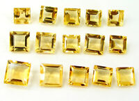 43.80 Ct Natural Citrine Loose Gemstone Emerald Cut Lot of 15 Pcs Stone - 32665