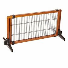 "Carlson 2070 68"" Wide Adjustable Freestanding Pet Gate Premium Wood NEW"