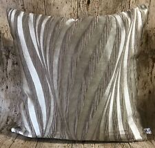 "40cm / 16"" Bronze Textured Wave Beige Brown Linen Handmade Cushion Cover"