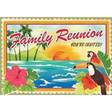 Family Reunion Tropical Beach Vacation Hawaiian Luau Party Novelty Invitations