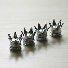 4 Pcs For Benz Car Chrome king Crown Tire Wheel Valve Stems Air Dust Cover Cap